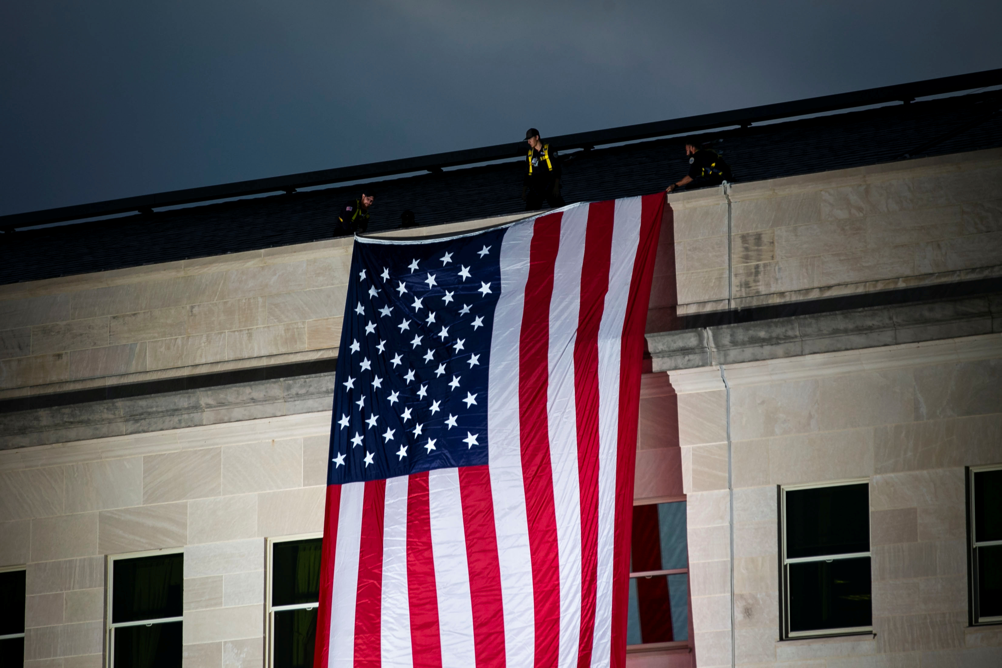 تنكيس الأعلام الأمريكية