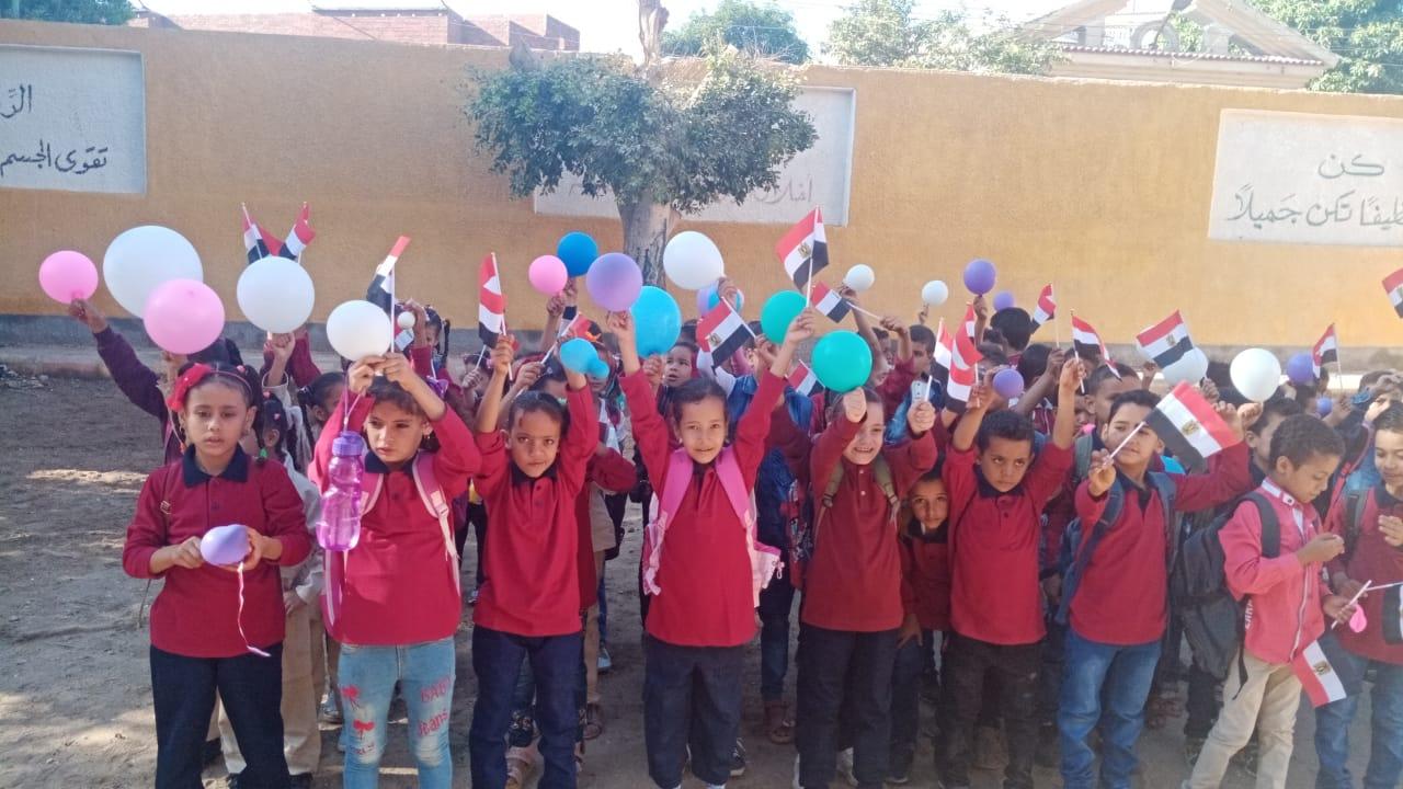 مدارس سوهاج تستقبل العام الدراسى بالاعلام (11)