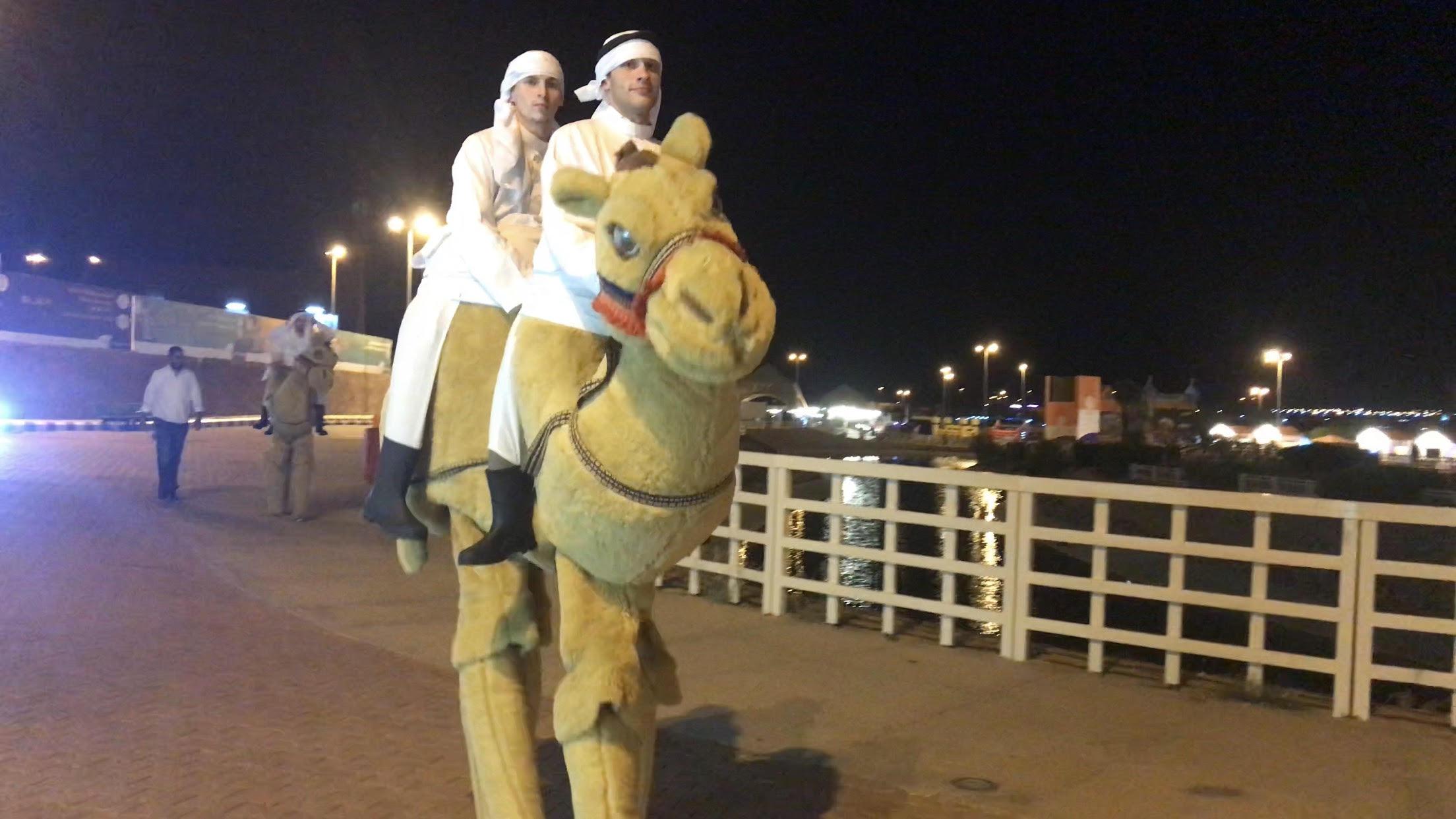 استعراضات ليلية بالإبل لإسعاد الأطفال والأسر فى السعودية (3)