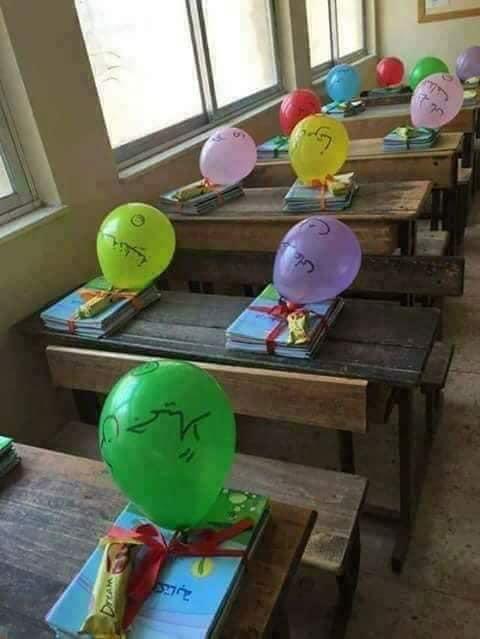 جانب من استقبال الطلاب بالمدارس (7)