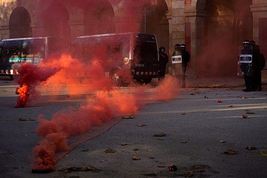 تظاهرات إقليم كتالونيا