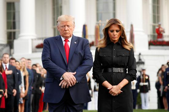 ترامب وميلانيا ولحظات صمت