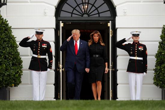ترامب والتحية العسكرية