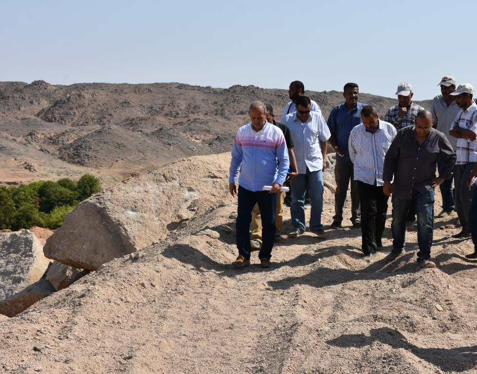 لجنة فنية تتفقد مواقع 26 محجر للجرانيت الأسود والأحمر بأسوان (11)