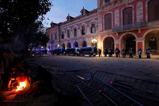 أعمال العنف فى كتالونيا