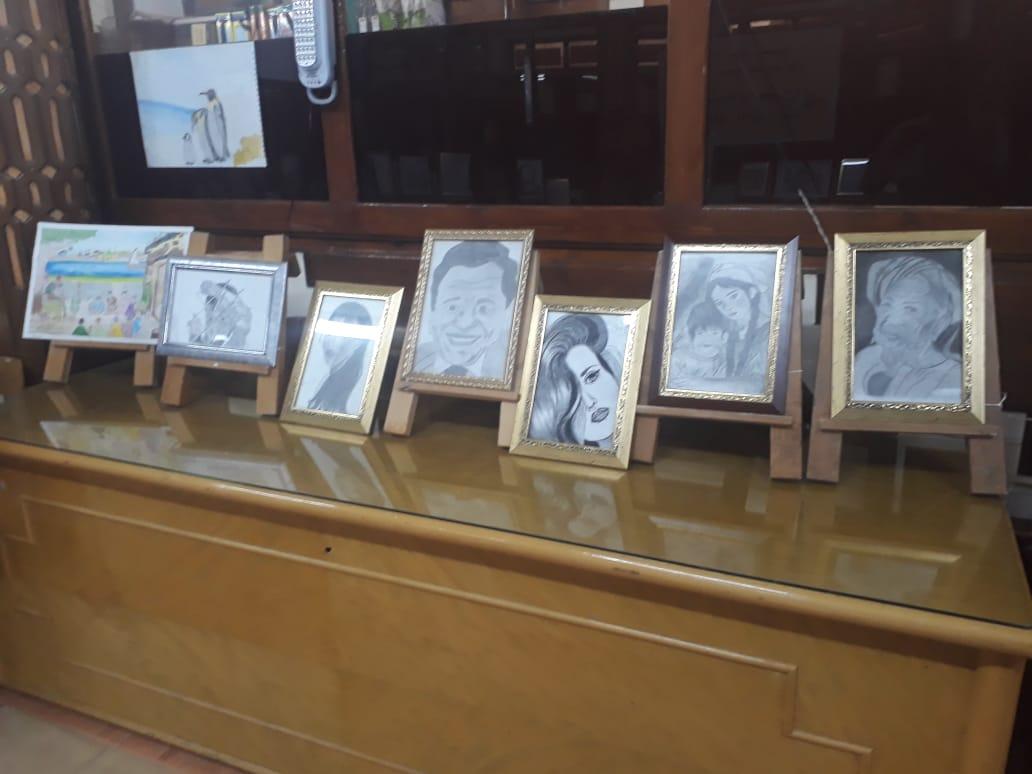 وكيل تعليم الفيوم يتفقد معرض مدرسة أبو كساة الفنية (5)