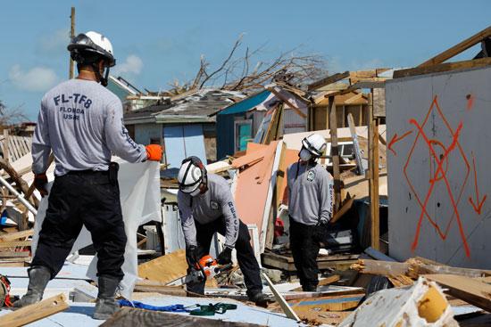 أثار كارثية لإعصار دوريان