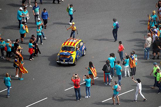 متظاهرو كتالونيا