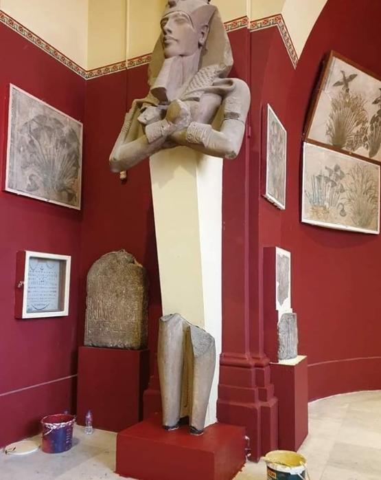 المتحف المصرى بالتحرير خلال تطويره