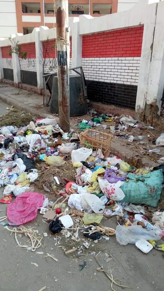 القمامة بجوار المدارس (2)