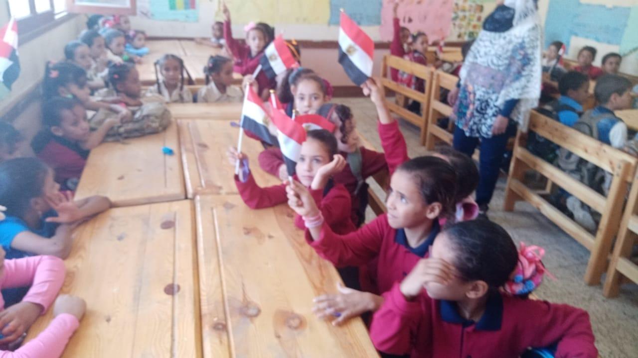 مدارس سوهاج تستقبل العام الدراسى بالاعلام (25)