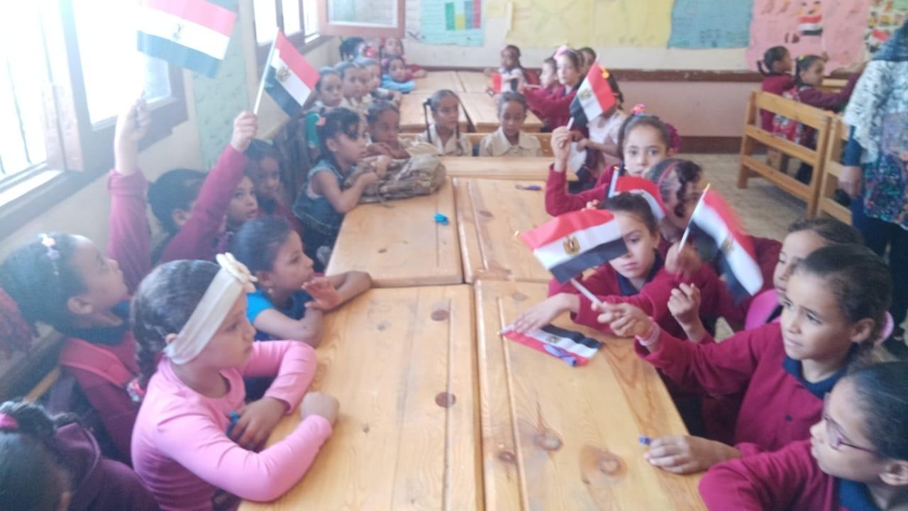 مدارس سوهاج تستقبل العام الدراسى بالاعلام (26)