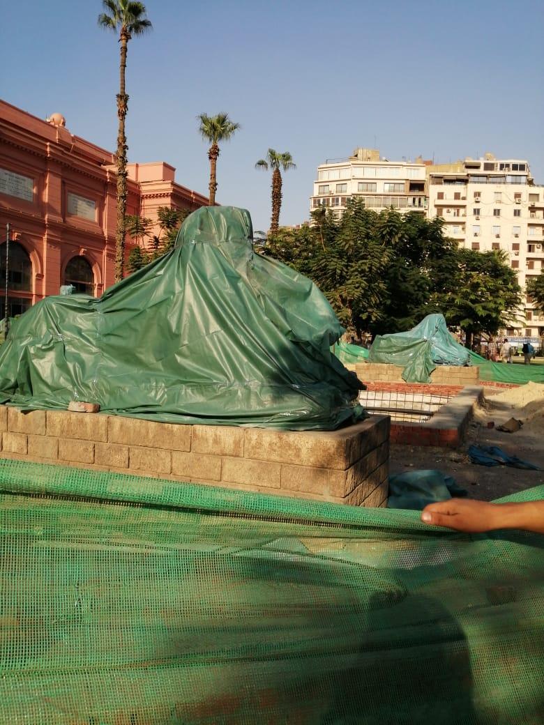 جانب من أعمال تطوير المتحف المصرى بالتحرير (1)