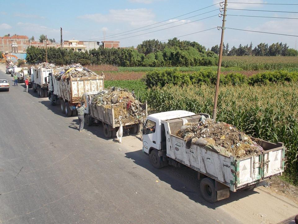 رفع 150 طن قمامة من قرية بدسوق