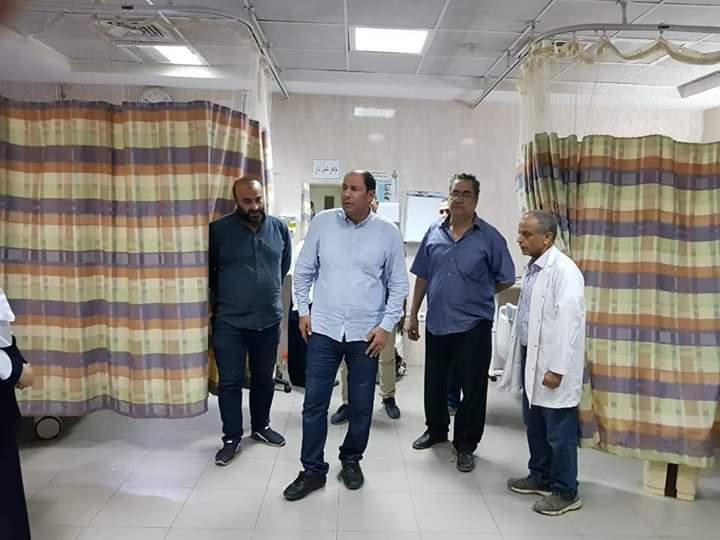 مدير صحة القليوبية يتفقد مستشفى شبين القناطر  (1)