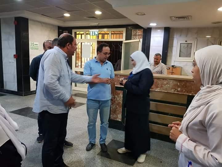 مدير صحة القليوبية يتفقد مستشفى شبين القناطر  (8)