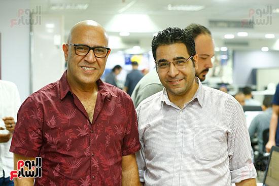 اليوم السابع يحتفل بميلاد الفنان اشرف عبد الباقى (9)