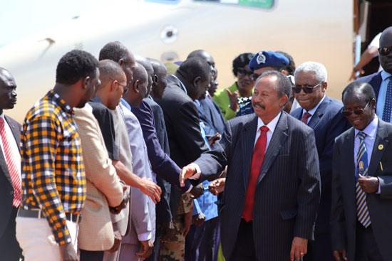 استقبال حمدوك  فى جنوب السودان