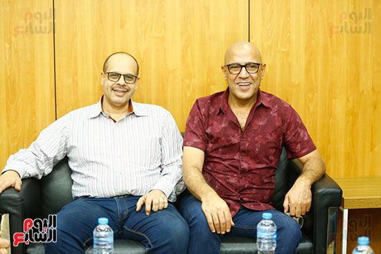 اليوم السابع يحتفل بميلاد الفنان اشرف عبد الباقى (7)