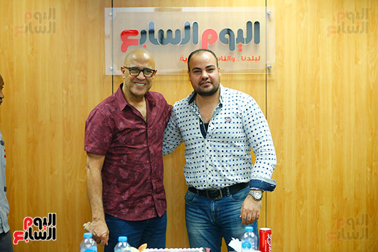 اليوم السابع يحتفل بميلاد الفنان اشرف عبد الباقى (2)