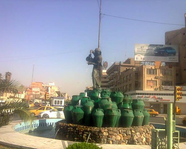 نُصب كهرمانة في ساحة كهرمانة وسط بغداد