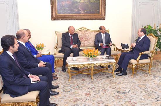 السيسى يتسلم رسالة من رئيس جيبوتى لتعزيز العلاقات الثنائية (1)
