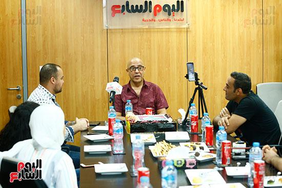 اليوم السابع يحتفل بميلاد الفنان اشرف عبد الباقى (12)