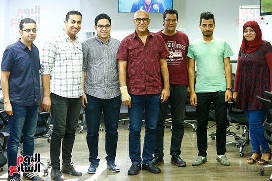 اليوم السابع يحتفل بميلاد الفنان اشرف عبد الباقى (11)