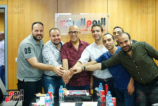 اليوم السابع يحتفل بميلاد الفنان اشرف عبد الباقى (18)