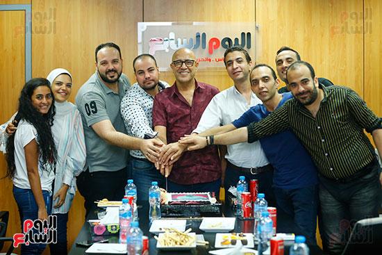اليوم السابع يحتفل بميلاد الفنان اشرف عبد الباقى (1)