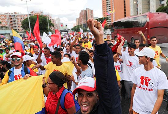 أنصار مادورو خلال المظاهرات