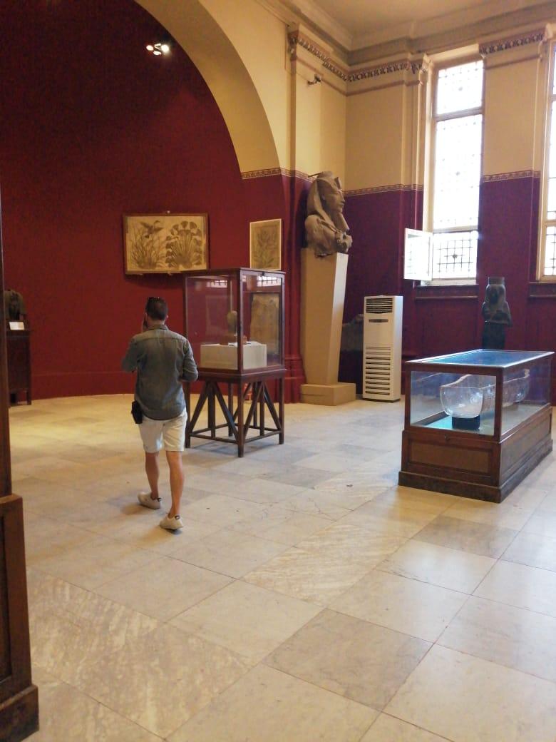 جانب من أعمال تطوير المتحف المصرى بالتحرير (4)