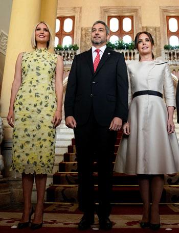 إيفانكا ترامب ورئيس باراجواى وقرينته