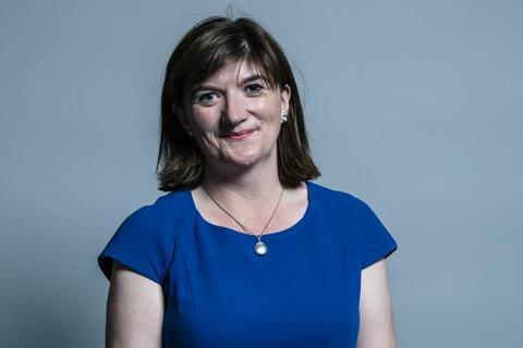 وزيرة الثقافة البريطانية نيكى مورجان