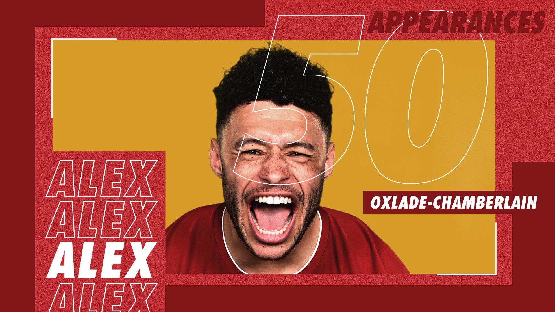 تشامبرلين يسجل الظهور 50 مع ليفربول