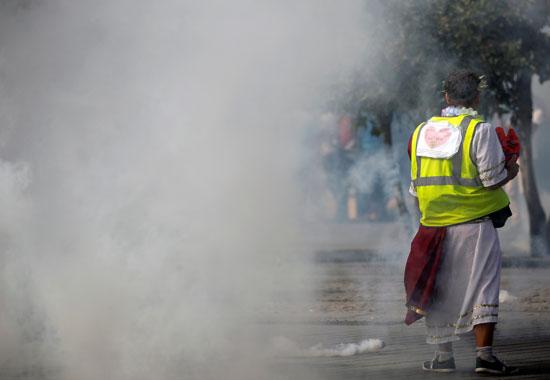 المظاهرات فى مدينة نانت الفرنسية