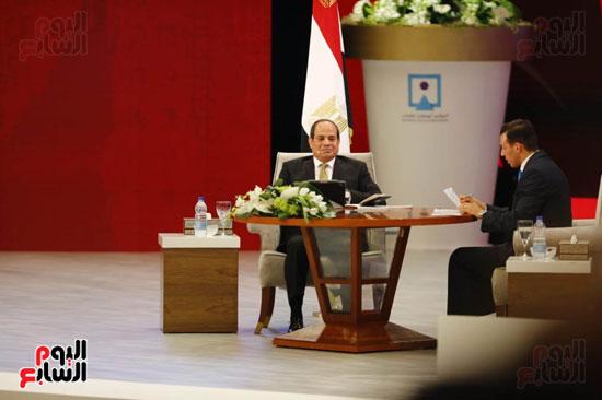 الرئيس السيسى، خلال جلسة اسأل الرئيس (6)