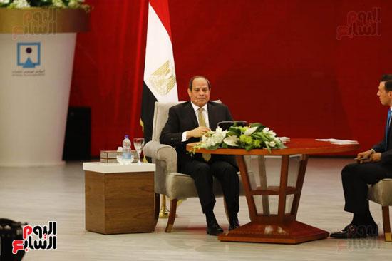 الرئيس السيسى، خلال جلسة اسأل الرئيس (19)