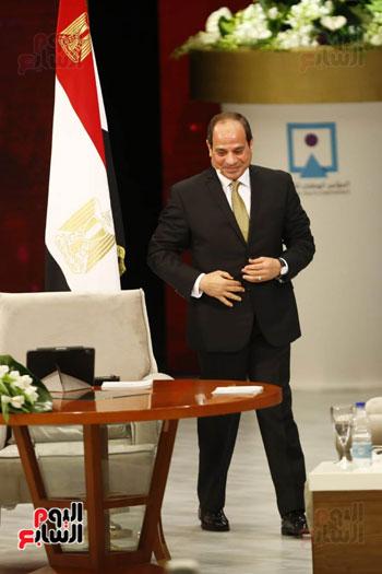 الرئيس السيسى، خلال جلسة اسأل الرئيس (3)