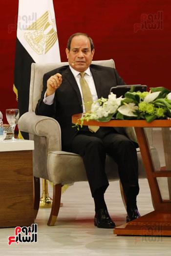 الرئيس السيسى، خلال جلسة اسأل الرئيس (17)