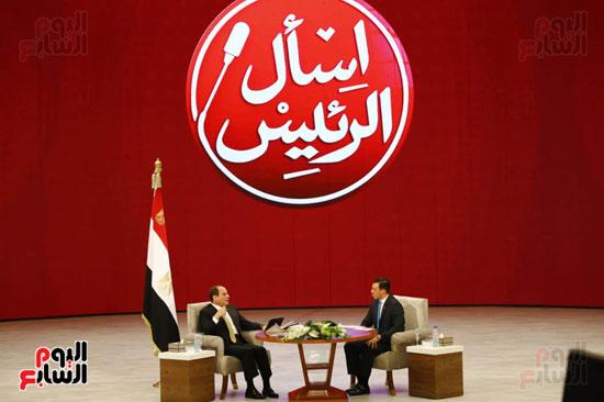 الرئيس السيسى، خلال جلسة اسأل الرئيس (14)