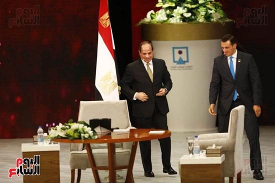 الرئيس السيسى، خلال جلسة اسأل الرئيس (2)