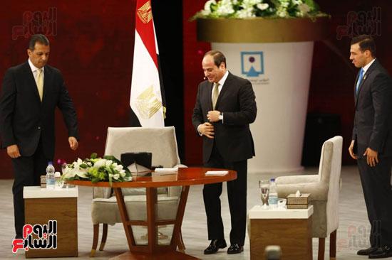 الرئيس السيسى، خلال جلسة اسأل الرئيس (4)