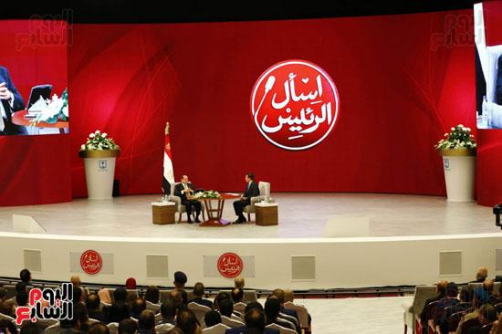 الرئيس السيسى، خلال جلسة اسأل الرئيس (9)