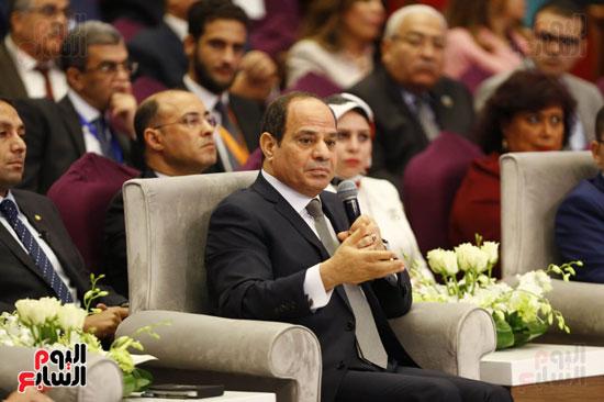 الرئيس عبد الفتاح السيسى فى المؤتمر