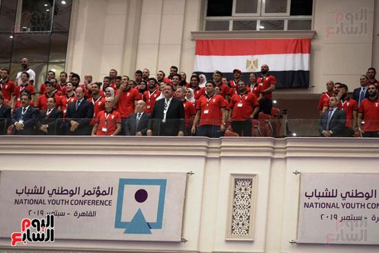 الرئيس السيسى خلال الاحتفاء بأبطال مصر فى دورة الألعاب الأفريقية (7)