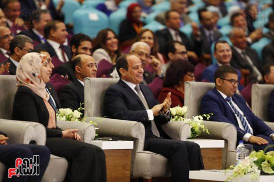 الرئيس عبد الفتاح السيسى بمؤتمر الشباب
