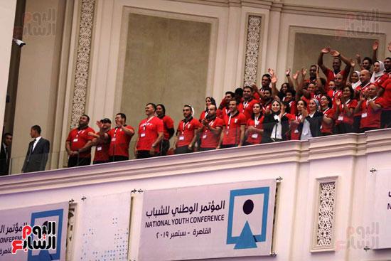 الرئيس السيسى خلال الاحتفاء بأبطال مصر فى دورة الألعاب الأفريقية (5)