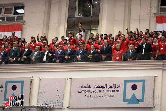 الرئيس السيسى خلال الاحتفاء بأبطال مصر فى دورة الألعاب الأفريقية (3)