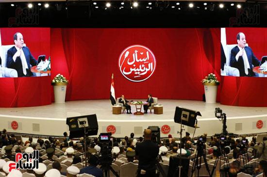 الرئيس السيسى، خلال جلسة اسأل الرئيس (15)